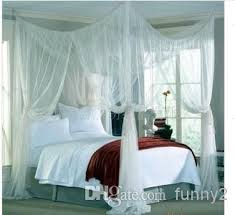 Mosquito Net Bed Canopy 4 Post Bed Canopy Dreamma Four Corner Mosquito Bug Net King