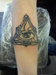 my right arm tattoo all seeing eye by antichrist10 on deviantart