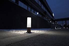 garden bollard light contemporary cast aluminum
