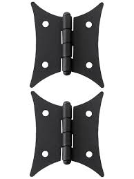 Full Wrap Around Cabinet Hinges by Butterfly Cabinet Hinges Pair Of Black Lacquer Colonial Butterfly