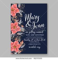 theme invitations wedding invitations anemone flowers anemone bridal stock vector