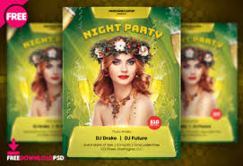 free download birthday party flyer freedownloadpsd com