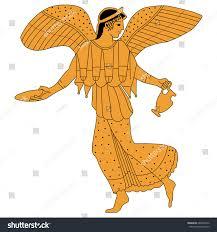 vector image ancient greek goddess victory stock vector 685894276