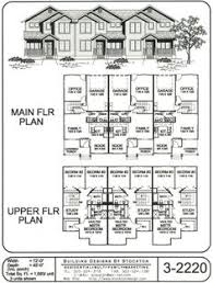 Multi Unit Apartment Floor Plans 4 Plex Skinny Units Apartment House Plan Ideas Pinterest