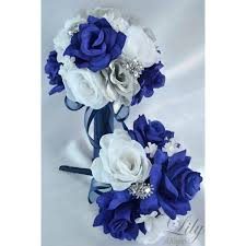 navy blue corsage navy blue silver white bouquets corsages boutonnieres