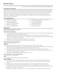senior software architect resume sample real cv examples resume