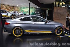 mercedes siege mercedes amg c63 coupe edition 1 side at the iaa 2015