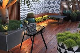balcony garden furniture white comfy cushion pink rose flower