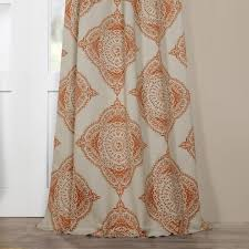 moroccan style thermal insulated blackout curtain panel pair
