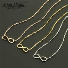 gold short chain necklace images Dianshangkaituozhe 10pcs infinity necklace women best friend jpg