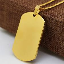 gold dog pendant necklace images Gold color rambo dog tag necklace and men cuban chain hiphop jpg