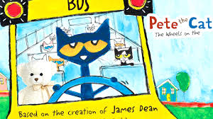 pete the cat the wheels on the by dean book read aloud