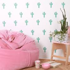 cactus fabric wall stickers love mae our products cactus fabric wall stickers love mae