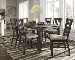 ashley furniture home theater seating ashley 7 pc dresbar greyish brown finish dining table side chairs set
