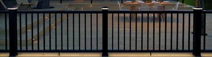 metal deck railing systems aluminum iron steel decksdirect