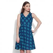 sleeveless dress color cotton printed sleeveless dress