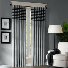 how to make back tab panel curtains dune 2 pack two tone stripe