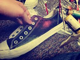 diy galaxy shoes 9 steps with pictures