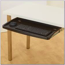 Mount Laptop Under Desk by Glass Desk Suction Cup Mounted Keyboard Tray Brackets Gds Products