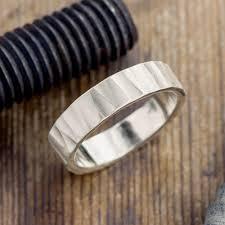 mens wedding bands wood 6mm 14k white gold mens wedding band wood grain matte point no
