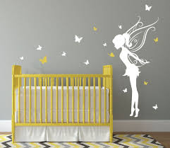 trendy fairy room decor for baby bedroom with yellow wooden crib