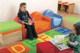 kids waiting room furniture kid sofa chairs and storage bins set