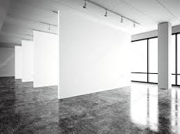 photo exposition modern gallery open space blank white empty