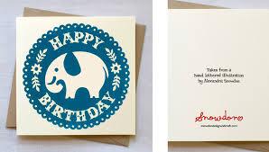 elephant birthday card snowdon design and craft