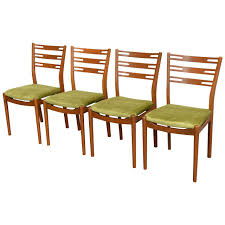 Teak Mid Century Modern Furniture by Set Of Four Swedish Mid Century Modern Teak Dining Chairs At 1stdibs