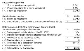 cmo calcular el salario diario integrado con sueldo salario diario integrado semana ó jornada reducida el conta punto com