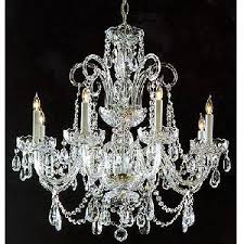 Silver Chandelier Silver Chandelier With Glass Arms Chandelierexporter