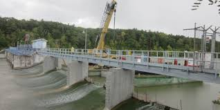 river removal and replacement of spillway piers and walkways
