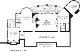 hillside floor plans plan of the week ranch and hillside walkout houseplansblog