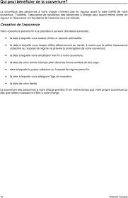 bureau commun des assurances collectives bienvenue à votre régime d avantages sociaux walmart pdf