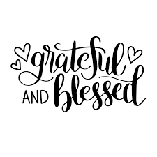 Free Silhouette Images Hand Lettered Grateful And Blessed Free Svg Cut File