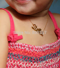 Baby Name Necklace Gold Online Shop Free Shipping Gold Plated Over Silver Personalised