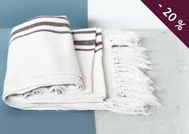 plaid coton pour canapé plaid jeté de canapé coton ivoire 130x170 cm 71 les esthètes