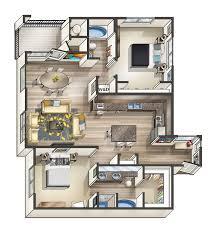 One Bedroom Floor Plans 3d Studio Apartment Layouts