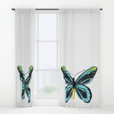 butterfly window curtains society6