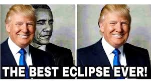 Anti Obama Meme - donald trump gets roasted for retweeting anti obama eclipse meme