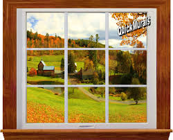 Woodland Forest Peel And Stick Accent Window Murals
