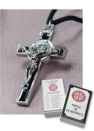 st benedict crucifix crucifix medal of st benedict black catholic shoppe usa