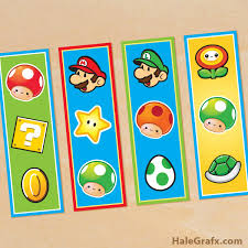 free printable super mario bros bookmarks print laminate