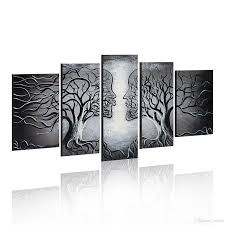 modern abstract art kiss tree canvas painting wall art home