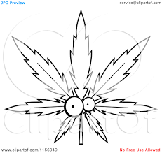 outline pot leaf tattoo stencil photos pictures and sketches