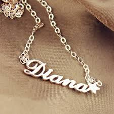 necklace with names images Rose gold sex and the city name neckalce with star jpg