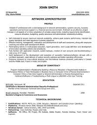 good looking network administrator resume sample featuring areas