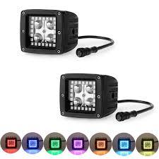 Led Light Bar Color Changing by Amazon Com Nicolight 2 Pcs 12w 3