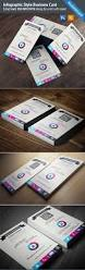 infographic style business card template on behance