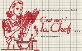 point de croix cuisine grille gratuite point de croix cuisine c est moi la chef